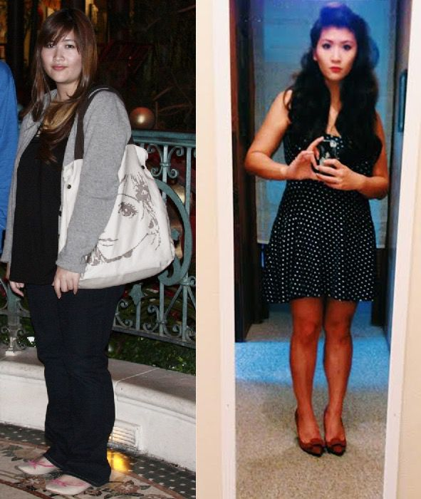 5 feet 3 Female Before and After 100 lbs Weight Loss 220 lbs to 120 lbs