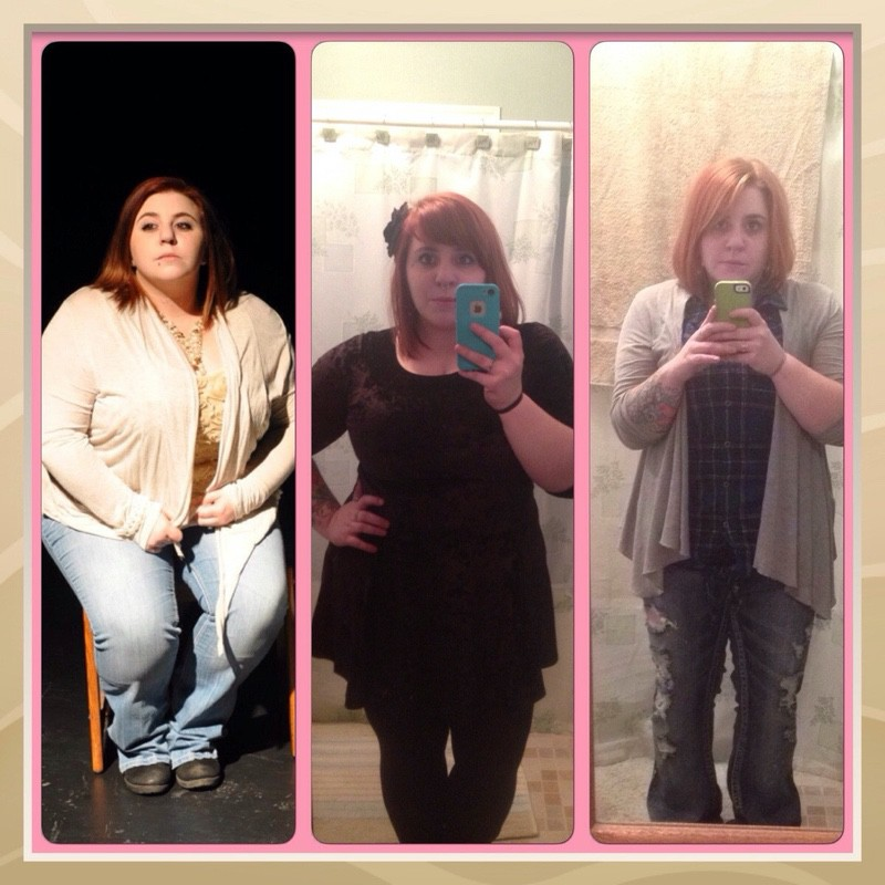 53 lbs Weight Loss Before and After 4'10 Female 247 lbs to 194 lbs