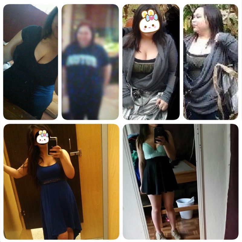 4 feet 9 Female 68 lbs Fat Loss Before and After 180 lbs to 112 lbs