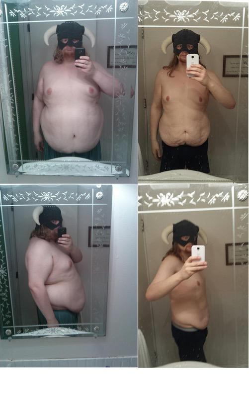 Before and After 135 lbs Fat Loss 5'11 Male 355 lbs to 220 lbs