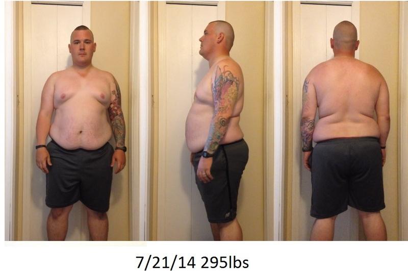 Progress Pics of 36 lbs Fat Loss 6 foot Male 295 lbs to 259 lbs