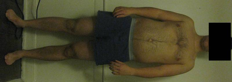 4 Pictures of a 5'11 197 lbs Male Weight Snapshot