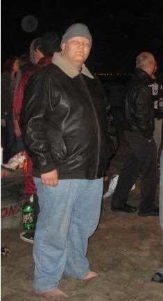 Before and After 110 lbs Weight Loss 6 feet 3 Male 410 lbs to 300 lbs