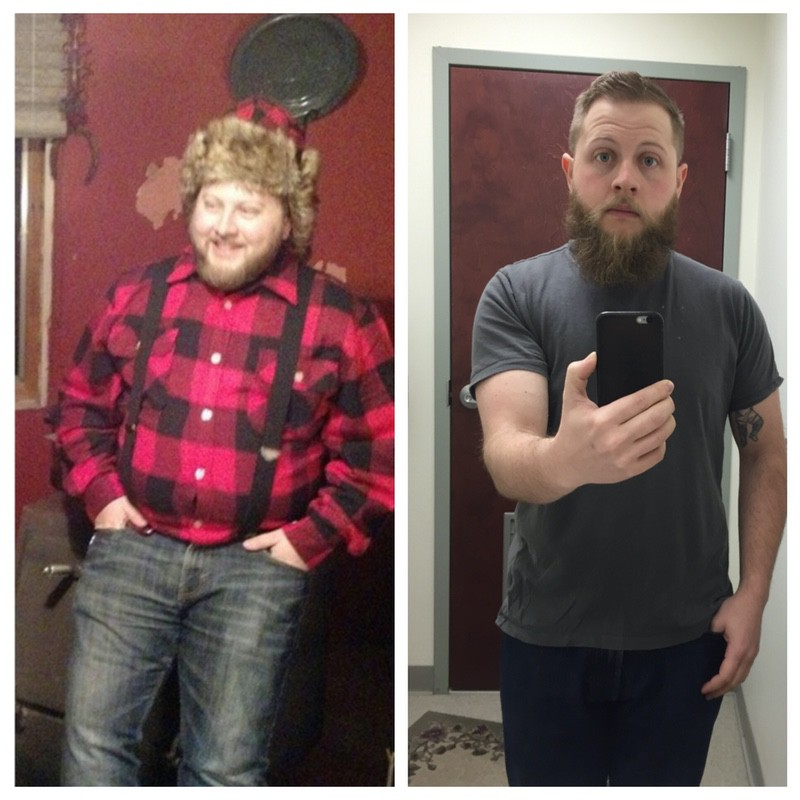85 lbs Weight Loss Before and After 5 feet 7 Male 250 lbs to 165 lbs