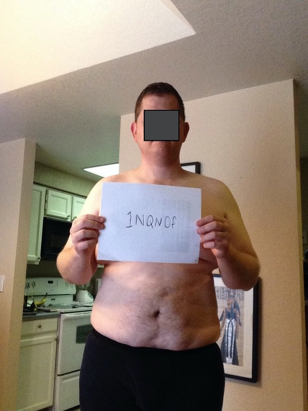 4 Pics of a 6'3 290 lbs Male Weight Snapshot