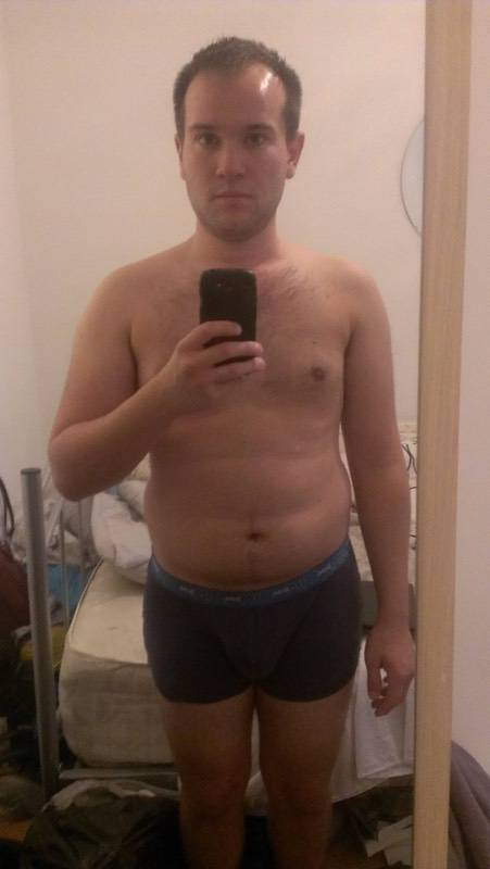 5'6 Male Before and After 18 lbs Fat Loss 154 lbs to 136 lbs