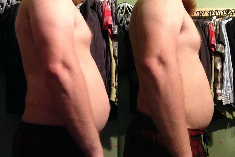 5'8 Male Before and After 7 lbs Fat Loss 200 lbs to 193 lbs