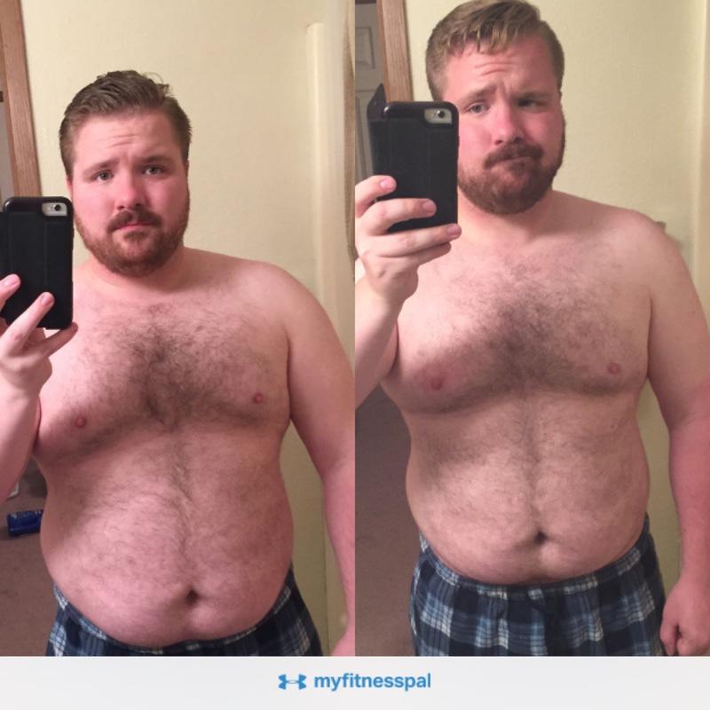 5 feet 6 Male Progress Pics of 26 lbs Weight Loss 230 lbs to 204 lbs