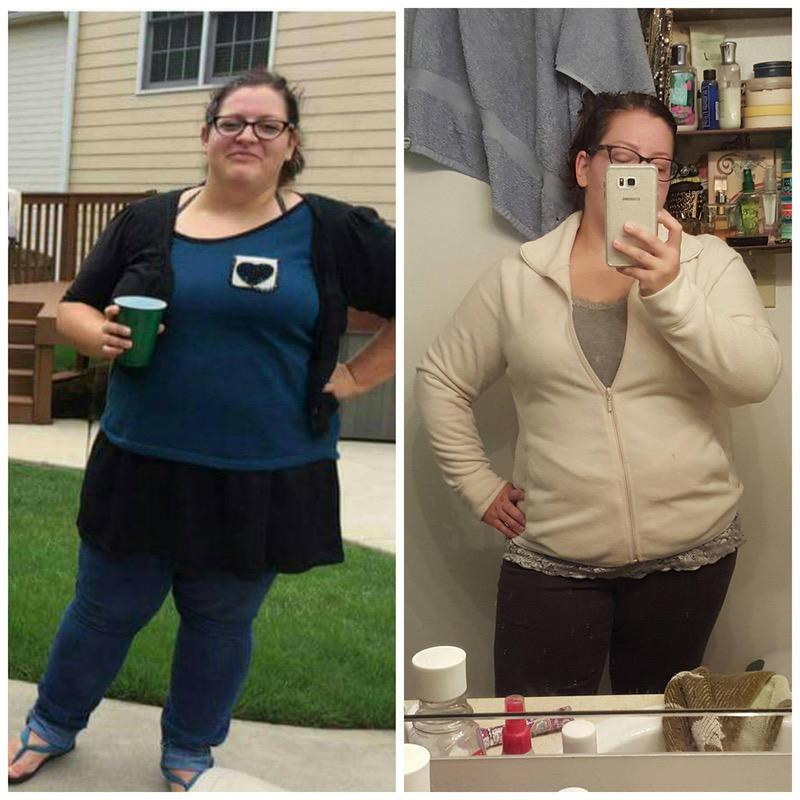 5 foot Female Before and After 50 lbs Fat Loss 277 lbs to 227 lbs