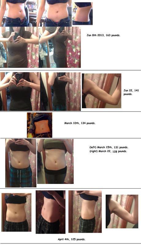 5'10 Female 38 lbs Fat Loss 163 lbs to 125 lbs