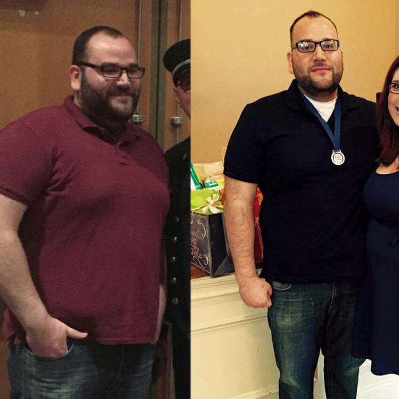 Before and After 23 lbs Weight Loss 6'1 Male 307 lbs to 284 lbs