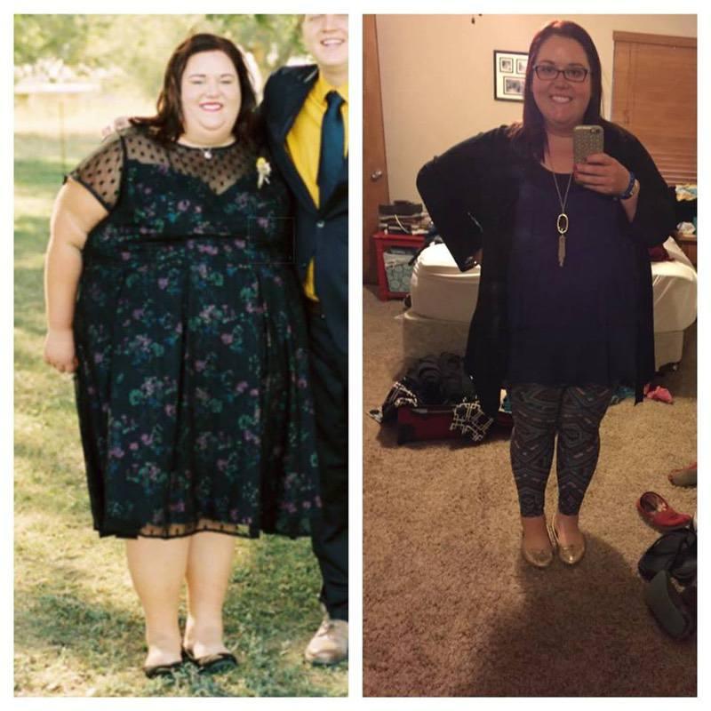 Progress Pics of 96 lbs Fat Loss 5 foot 4 Female 374 lbs to 278 lbs