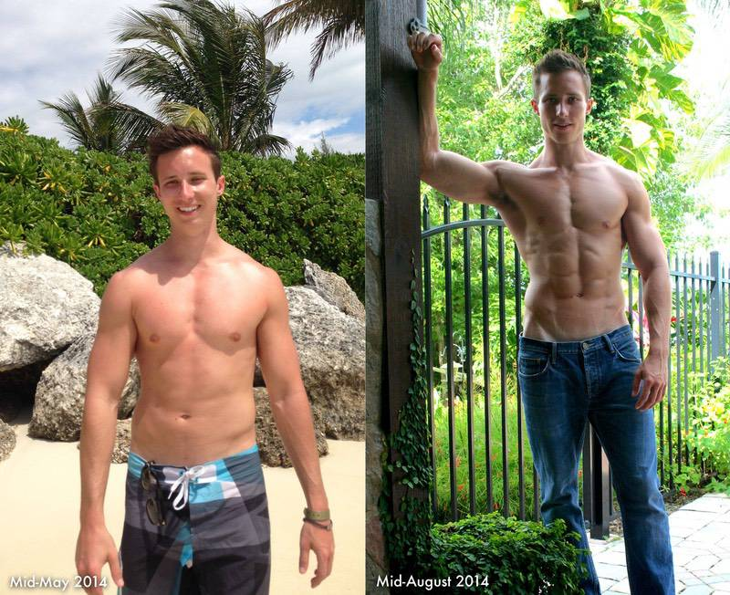 Before and After 2 lbs Fat Loss 5'10 Male 160 lbs to 158 lbs