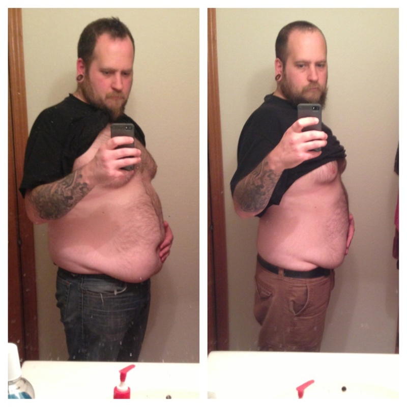 31 lbs Fat Loss Before and After 5 feet 11 Male 276 lbs to 245 lbs