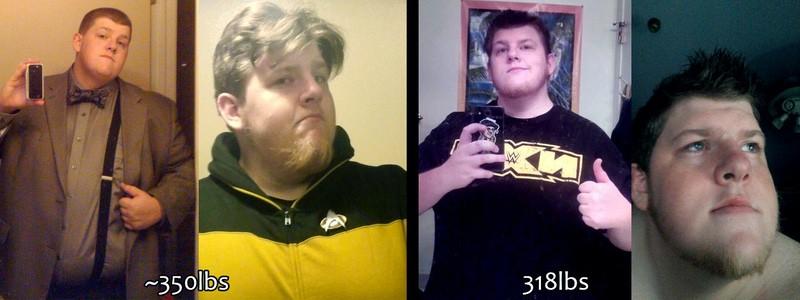 Progress Pics of 32 lbs Fat Loss 5 feet 8 Male 350 lbs to 318 lbs