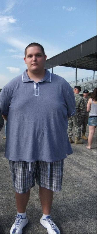 6 foot 3 Male Before and After 106 lbs Fat Loss 400 lbs to 294 lbs