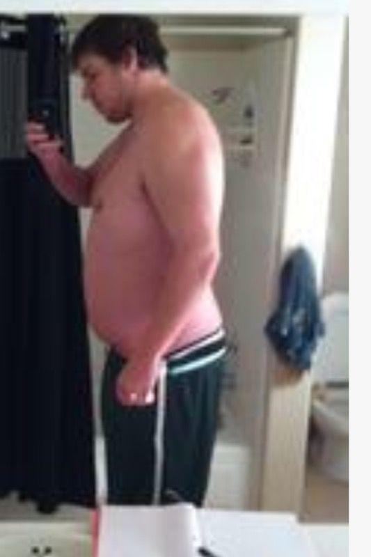 6 foot 8 Male 90 lbs Fat Loss 350 lbs to 260 lbs