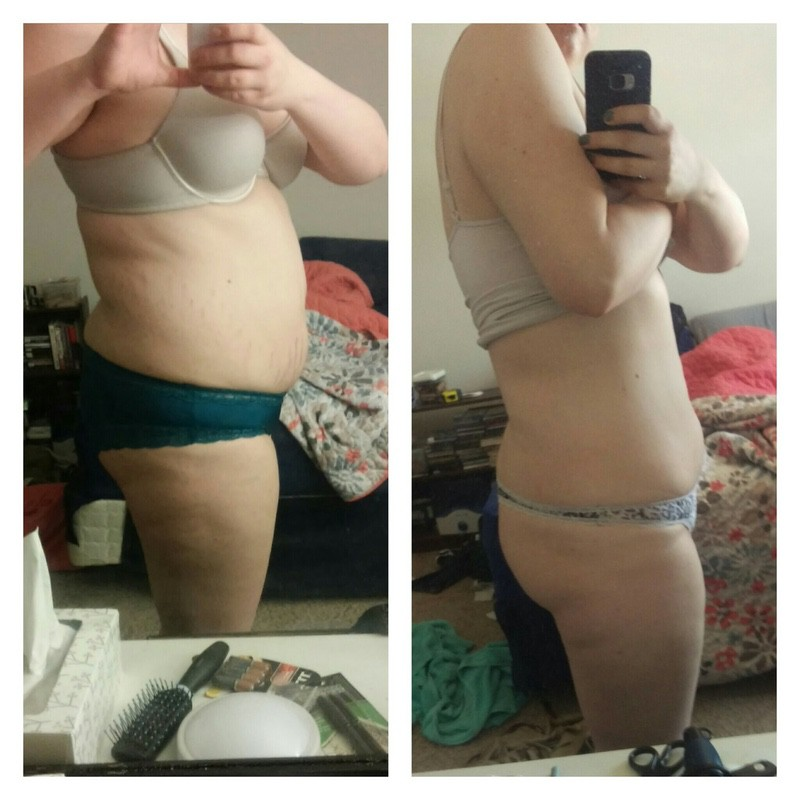 37 lbs Fat Loss Before and After 5'11 Female 250 lbs to 213 lbs