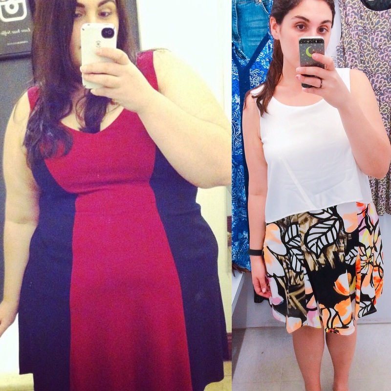 5'5 Female Before and After 112 lbs Fat Loss 283 lbs to 171 lbs
