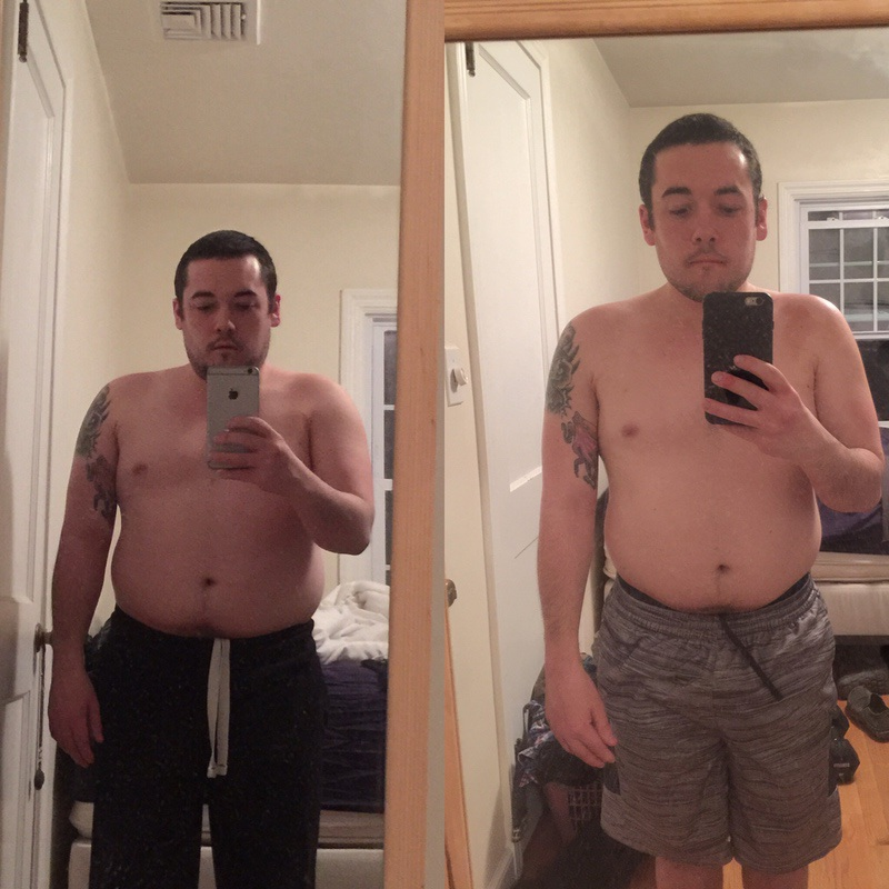 5'4 Male Before and After 28 lbs Weight Loss 190 lbs to 162 lbs