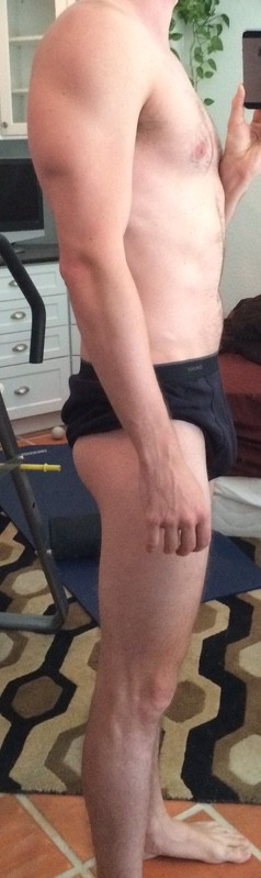 4 Pictures of a 170 lbs 6 foot Male Weight Snapshot