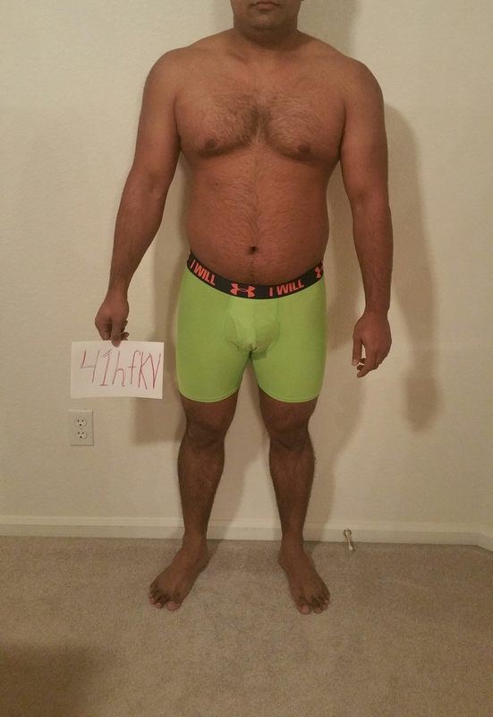 3 Pictures of a 5 foot 7 202 lbs Male Weight Snapshot