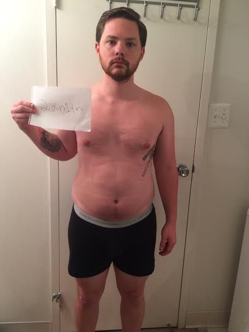 3 Photos of a 5 foot 7 189 lbs Male Weight Snapshot