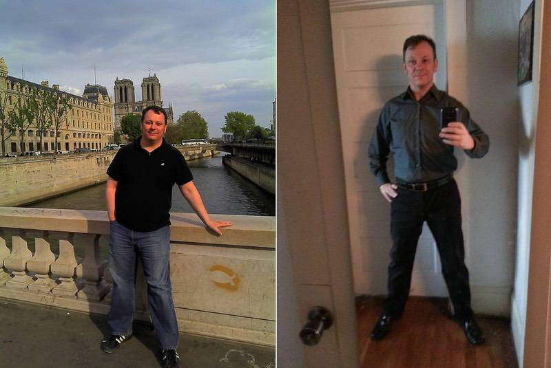 5 foot 10 Male 62 lbs Fat Loss Before and After 249 lbs to 187 lbs