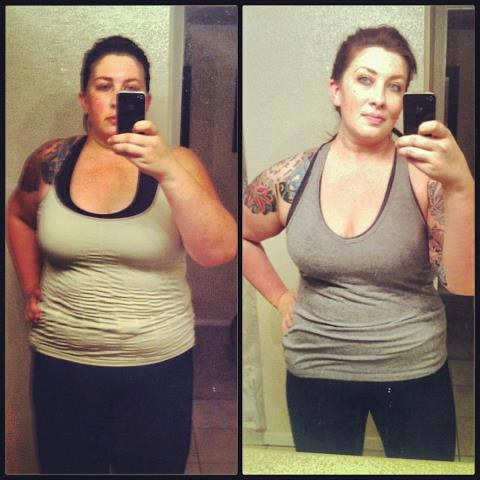 5 foot 10 Female 40 lbs Fat Loss Before and After 293 lbs to 253 lbs