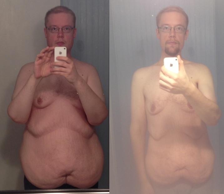 6'3 Male Progress Pics of 90 lbs Fat Loss 299 lbs to 209 lbs