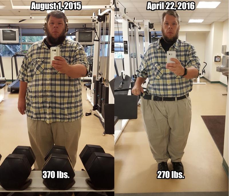 5'10 Male Progress Pics of 100 lbs Fat Loss 370 lbs to 270 lbs