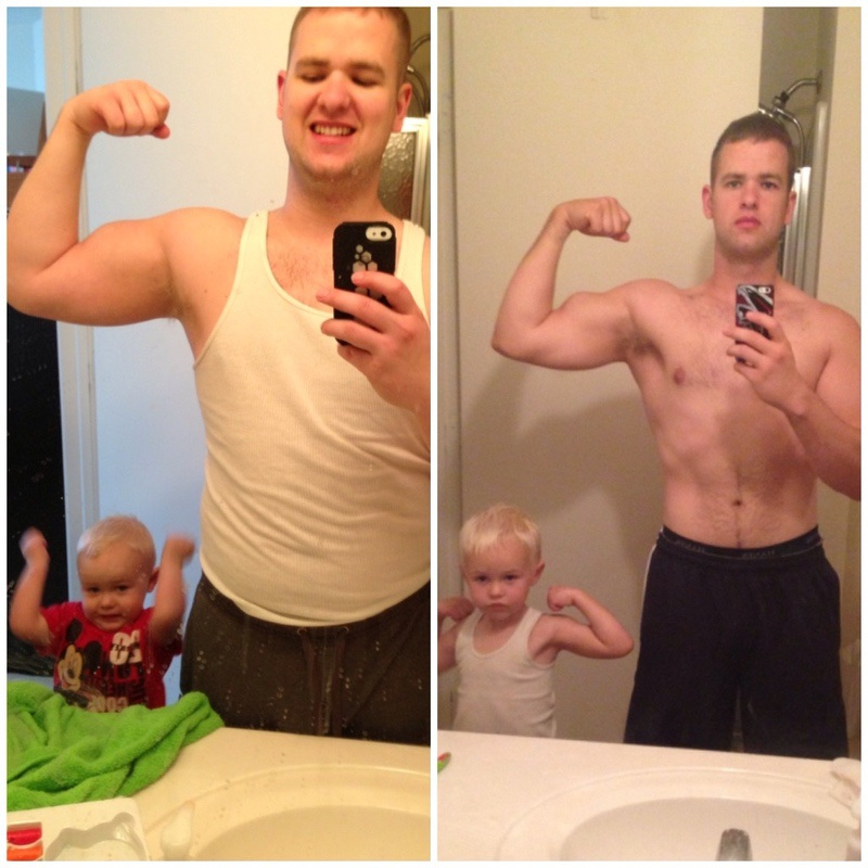 50 lbs Fat Loss Before and After 5'10 Male 216 lbs to 166 lbs