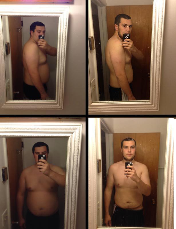 Progress Pics of 64 lbs Weight Loss 6 foot 4 Male 288 lbs to 224 lbs