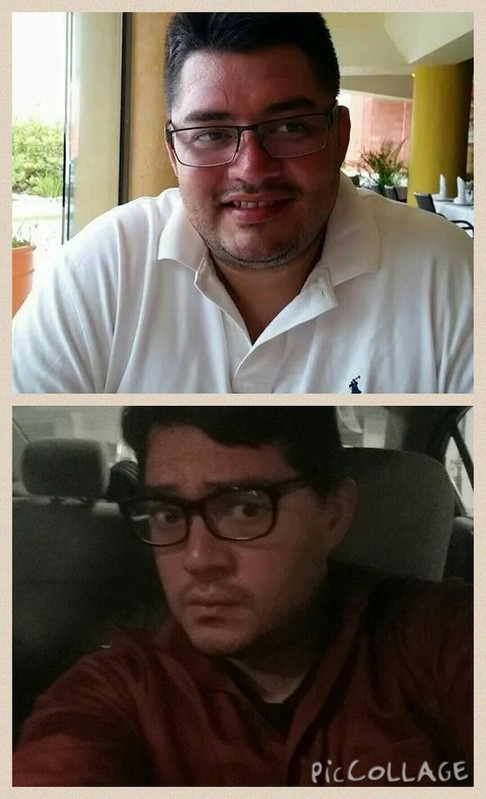 5'9 Male 34 lbs Fat Loss Before and After 283 lbs to 249 lbs