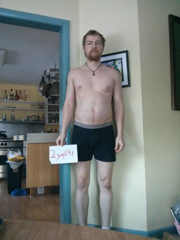 3 Pics of a 184 lbs 6 foot Male Weight Snapshot