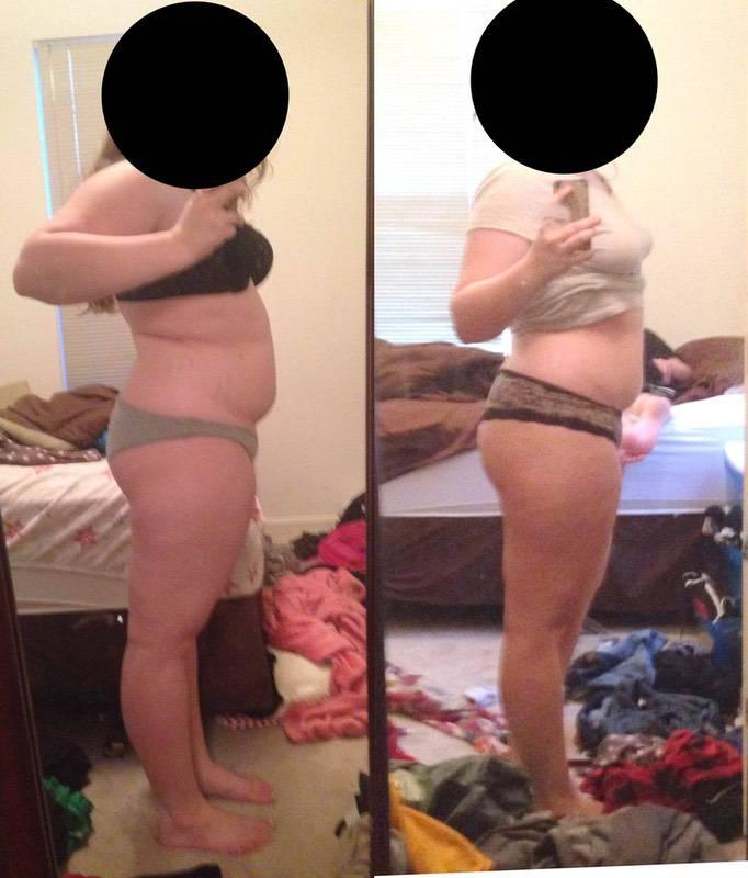 5 feet 5 Female Progress Pics of 20 lbs Fat Loss 235 lbs to 215 lbs