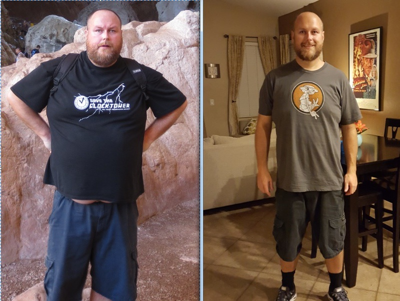 6'3 Male 100 lbs Fat Loss Before and After 330 lbs to 230 lbs