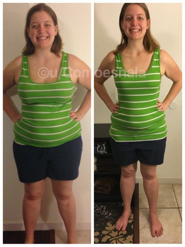 Before and After 51 lbs Fat Loss 5'10 Female 241 lbs to 190 lbs