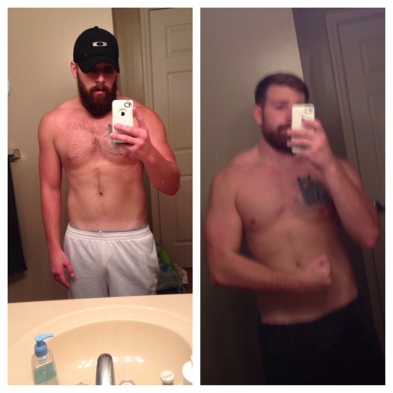 6 foot Male Before and After 5 lbs Fat Loss 185 lbs to 180 lbs