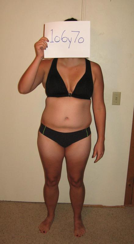 3 Pics of a 163 lbs 5'7 Female Weight Snapshot