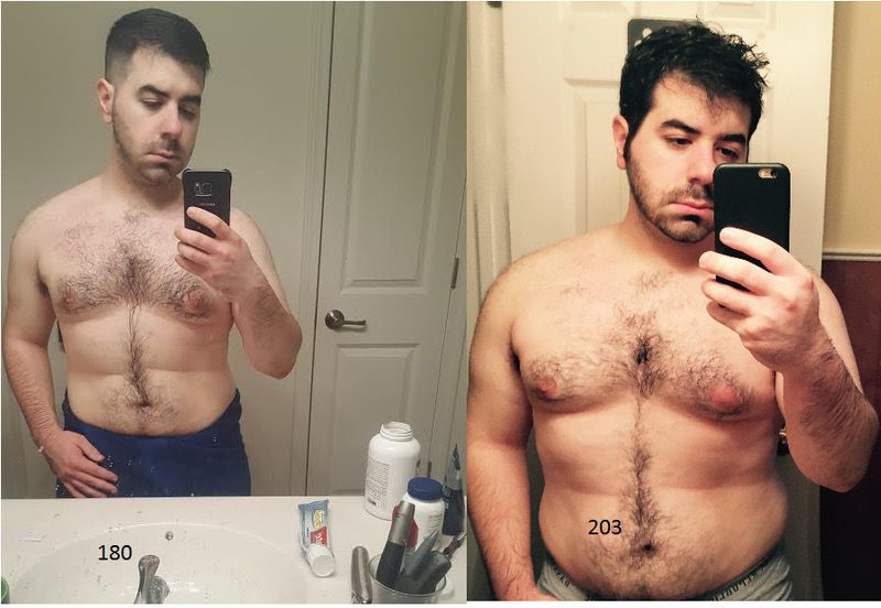 5 foot 4 Male 23 lbs Weight Loss 203 lbs to 180 lbs