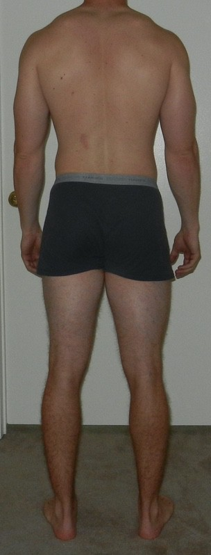 4 Pics of a 189 lbs 6 foot Male Weight Snapshot