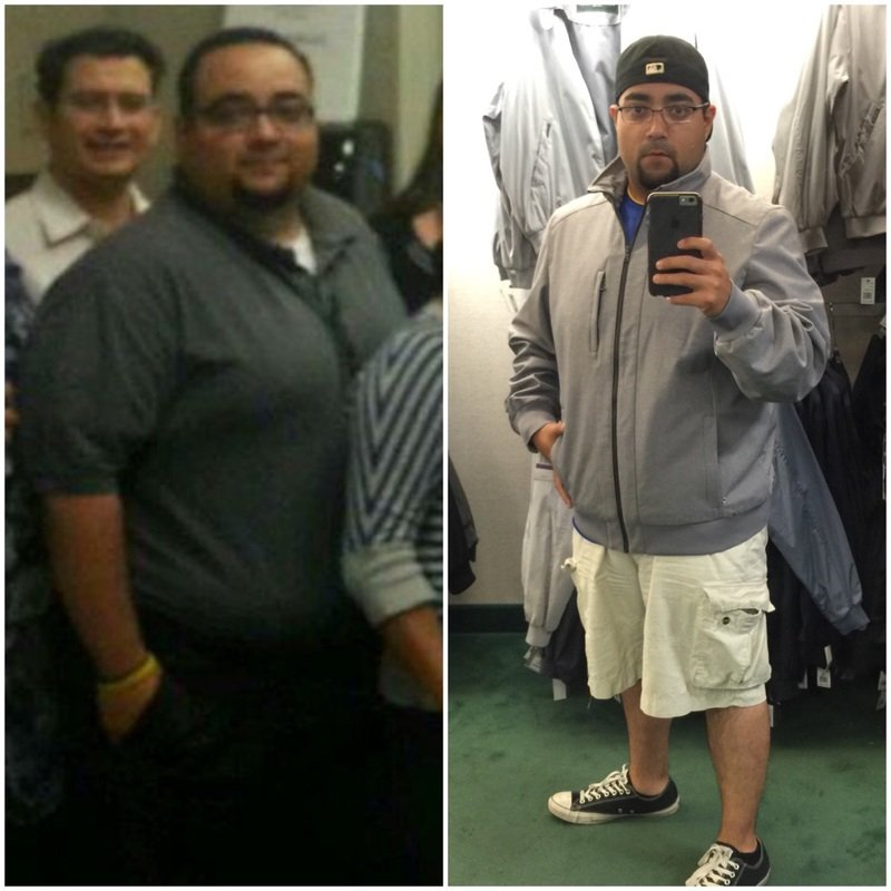 5'8 Male 47 lbs Weight Loss Before and After 284 lbs to 237 lbs