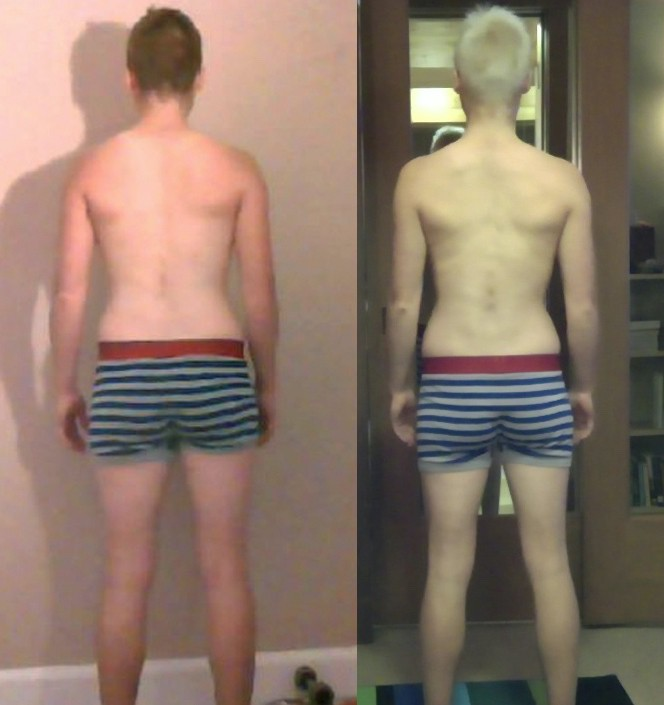 7 Photos of a 110 lbs 5'3 Male Weight Snapshot