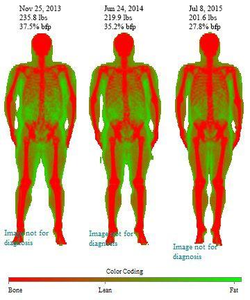 5'6 Male 34 lbs Fat Loss 236 lbs to 202 lbs
