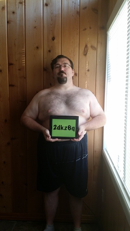 4 Pics of a 5'11 318 lbs Male Weight Snapshot