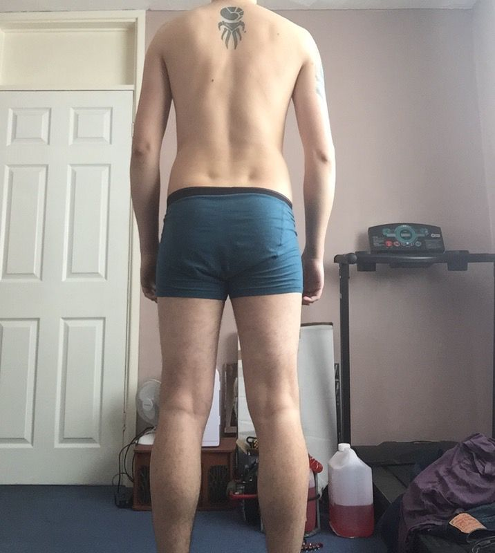 3 Pics of a 6 foot 11 158 lbs Male Fitness Inspo