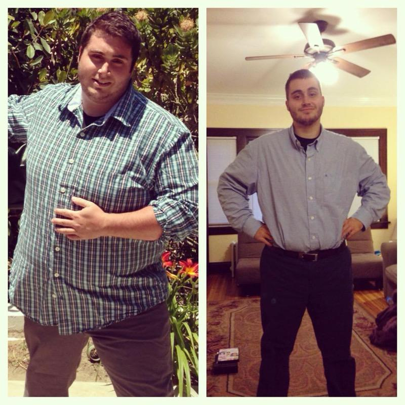 5'8 Male Before and After 105 lbs Weight Loss 315 lbs to 210 lbs