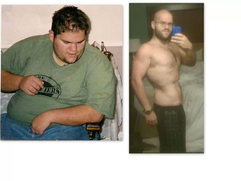 5 feet 8 Male Before and After 190 lbs Fat Loss 365 lbs to 175 lbs