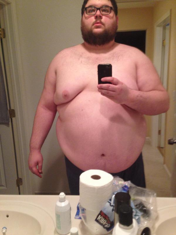 Before and After 146 lbs Fat Loss 6'1 Male 440 lbs to 294 lbs